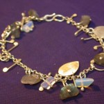 Sterling, Laboradite and Moonstone Bracelet