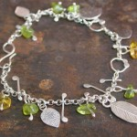 Sterling, Peridot and Citrine Bracelet