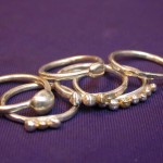 Sterling and 9ct Bauble Rings