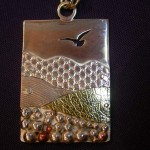 Sterling Silver, Copper and Brass Pendant