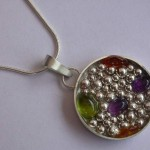Peridot, Amethyst, Citrine and Sterling Pendant