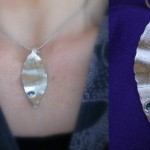 leaf pendant, now with added bling :o)