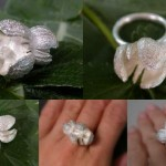 "Cast seed pod ring - the ""small version"""