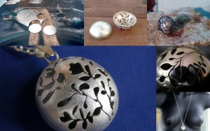 Some process shots of the making of my global pendants