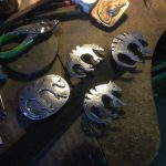 Fabricated Steel Thylacine Belt Buckles