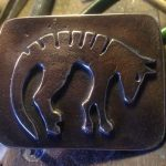 Sand Cast Bronze Thyalcine Belt Buckle
