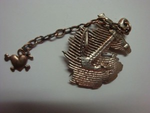 anchor brooch (many befor me have been called by the sea)
