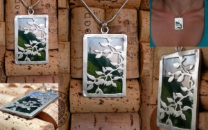 One of a collection of five pendants - each containing a photo I took on the Northern NSW coast