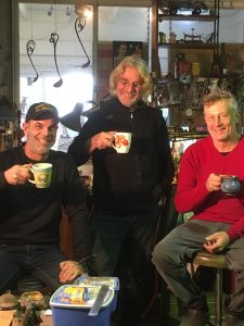 Rich Martin (Hammer and Hand Hobart) with Bruce Pringle and Julian DeSaxe (Hammer and Hand byron bay workshop)