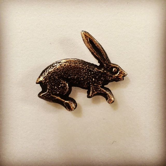 The Hare Brooch sand-cast silver or bronze